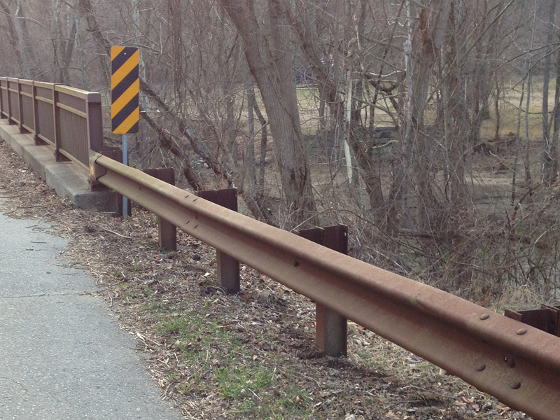 Traffic Barrier with Beam Corten / Weathering Steel
