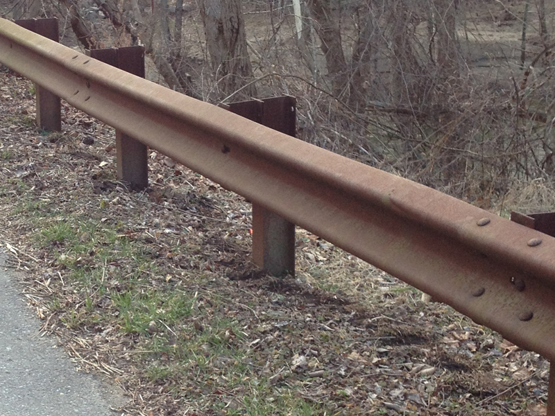 Traffic Barrier W Beam Corten / Weathering Steel